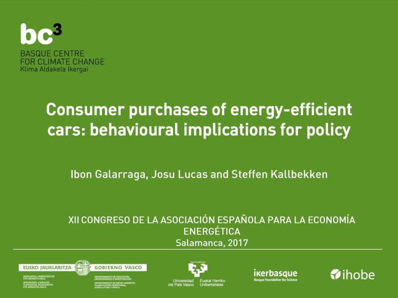 Presentation: EE Decisions & Cars. BC3 at SAEe 2017