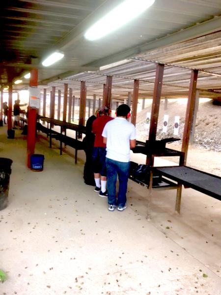 7-15 Yard Pistol line