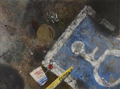 grunge artwork, urban art, urban painting, street art, street painting, realism, realistic, photorealism