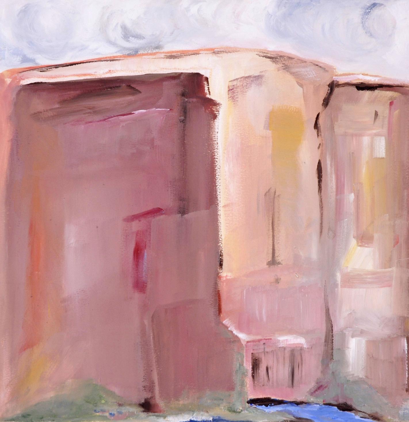 landscape painting, oil, canyon, colorful, color, bold color