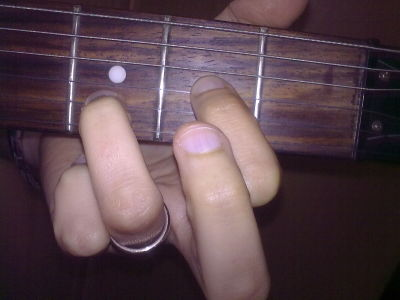 Dsus2 chord AKA D major suspended 2nd chord