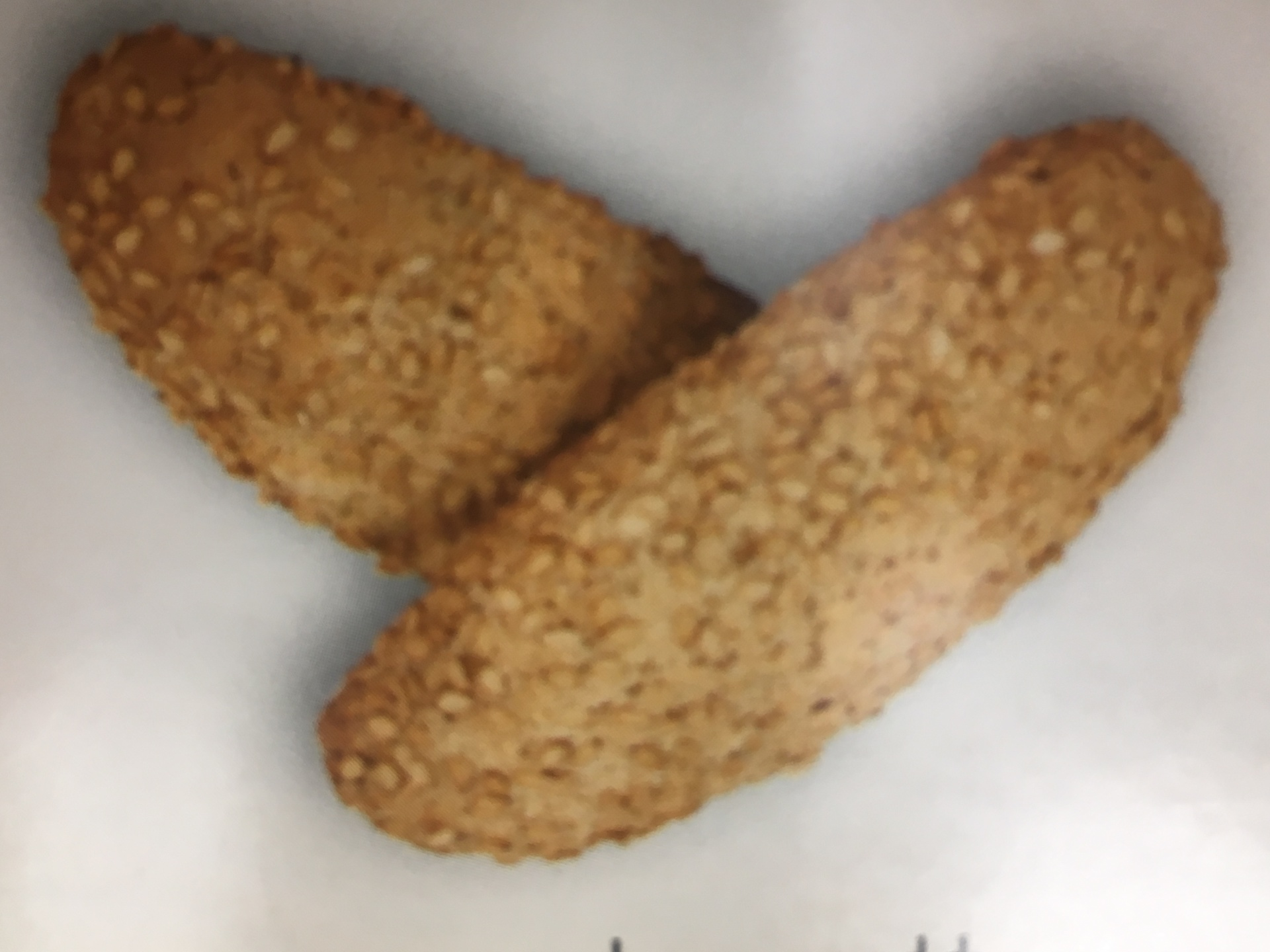 Sweet Biscotti Handrolled in Sesame Seeds