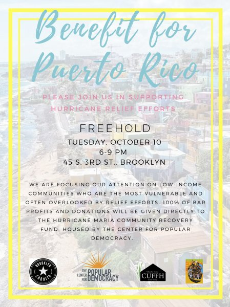 Benefit for Puerto Rico - FREEHOLD