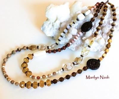 one of a kind 2 strand necklace Marilyn Nash Designsril