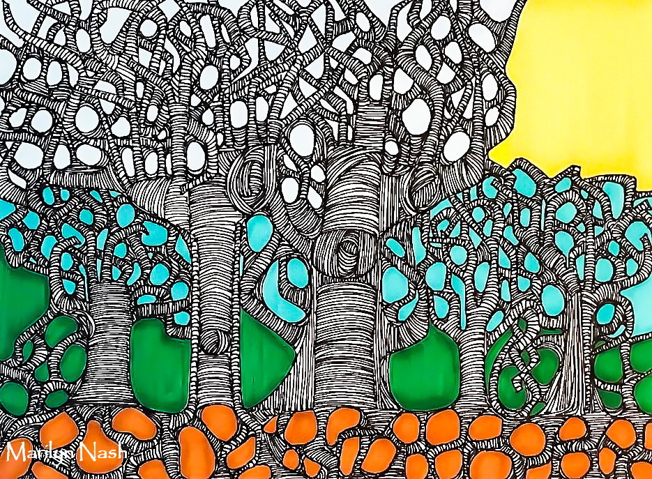 Drawing ~ Branch Management~Marilyn Nash