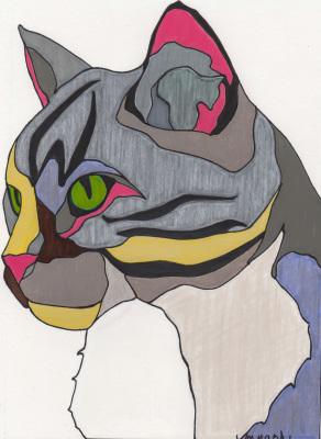Marilyn Nash Original drawing ~ Jasper Cat