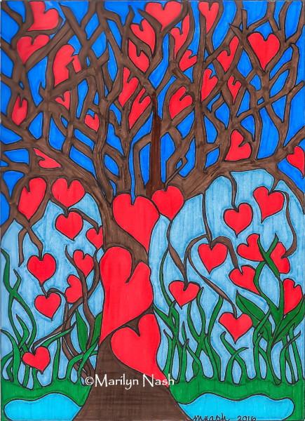 Mary's Tree ~ drawing Marilyn Nash