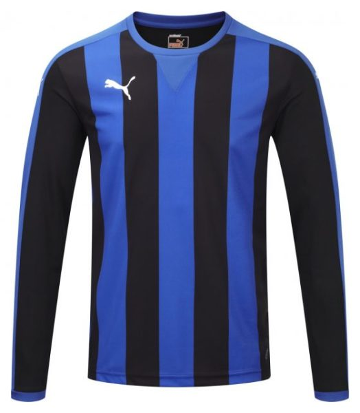 Puma Striped L/S Shirt-Puma Royal/Black