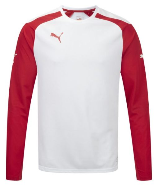 Puma Speed L/S Shirt – White-Red