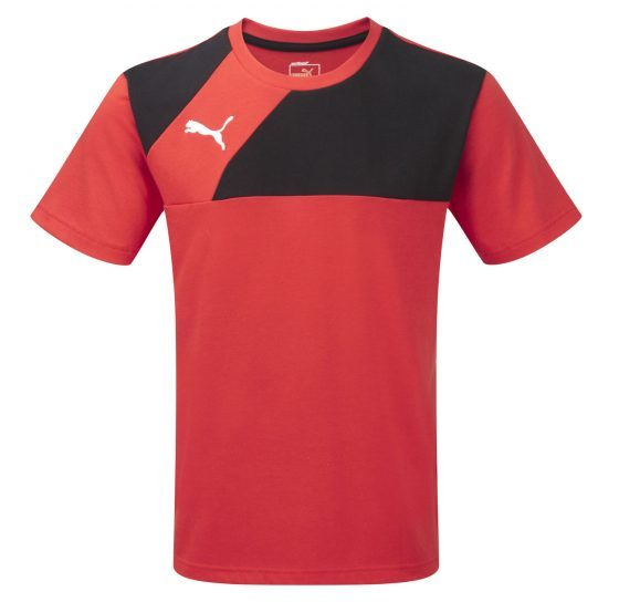 Puma Esquadra Leisure T-Shirt – Red-Black