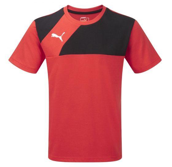 Puma Esquadra Leisure T-Shirt – Red-Black