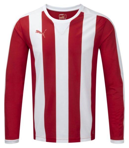 Puma Striped L/S Shirt-Red/White