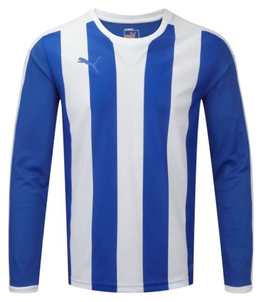 Puma Striped L/S Shirt-Royal/White