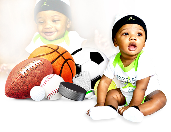 Baby sport moment