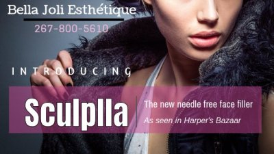 Introducing SCUPLLA. The needle free facial filler! As seen in Harpers Bazaar!