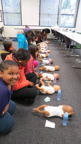 Babysitter Training in Action!  So happy about the babies!