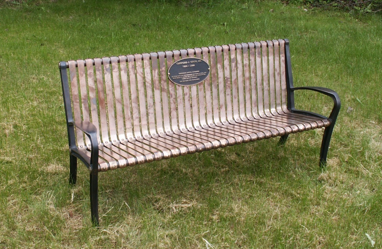 All-Bronze Slat Bench