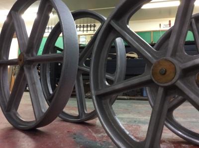 Aluminum Wheels for Sheep Herder Wagon