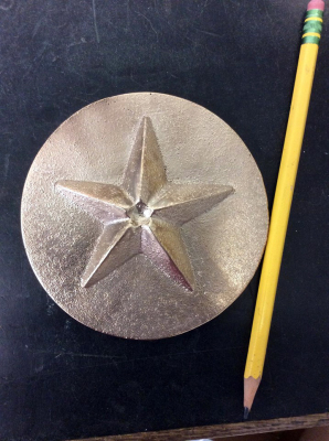 "3"" Star on 4"" Plate"