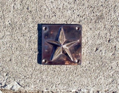 Star on Square Plate