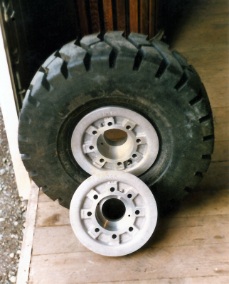 Custom House-Moving Wheel Rims—installed in tire