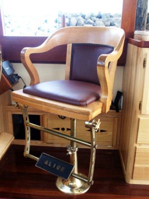Helm Chair Pedestal—Base and Footrest