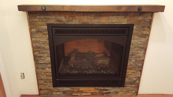 backside of fireplace