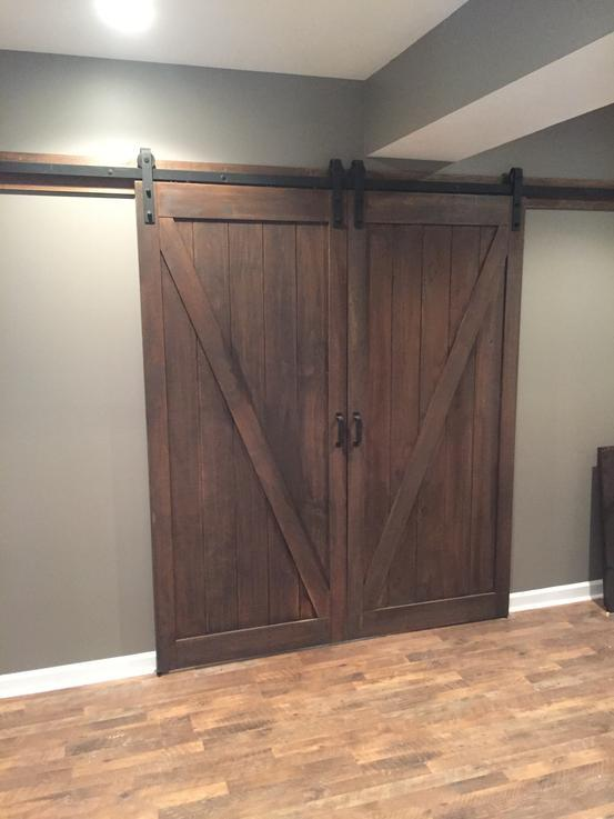 Basement barn doors