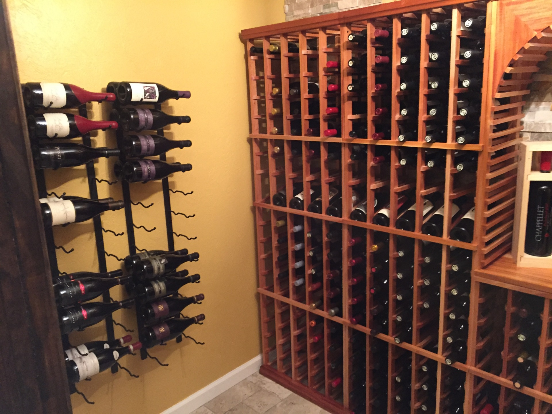 SDC basement wine room.