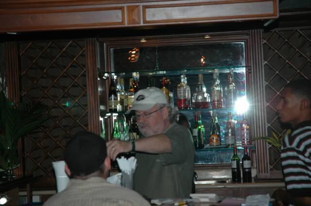 Chris at the bar