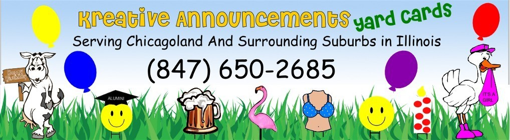 Illinois, Lawn Yard greeting,lawn sign, yard decoration rental