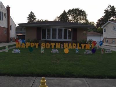 Illinois Lawn Yard Greeting Sign Decoration Rental Service