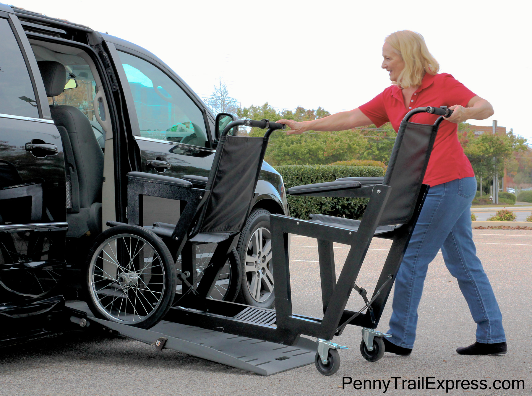 Penny Trail Express, Inc.   Transport for Two double transport chair, double wheelchair, wheelchair for two