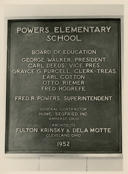Powers School Plaque