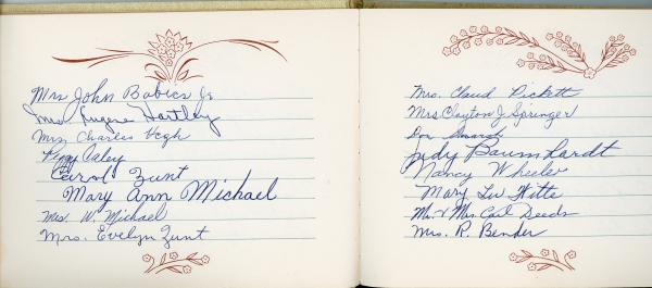 Guestbook from the PTA
