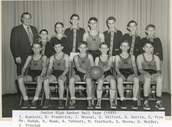 Amherst Junior High Basketball: 1950