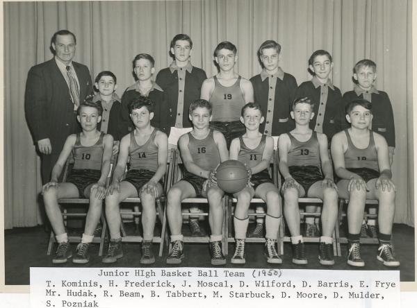 Amherst Junior High Basketball: 1950