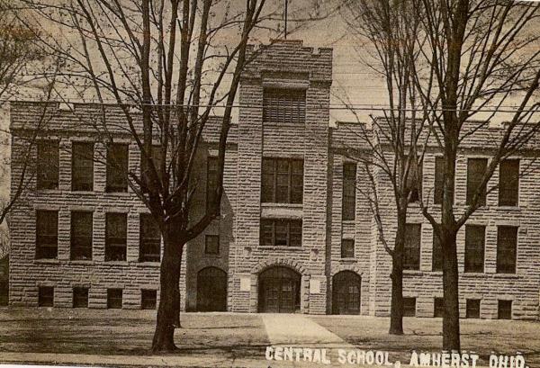 Central School Postcard