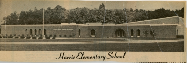 Harris Elementary School Newspaper Clipping