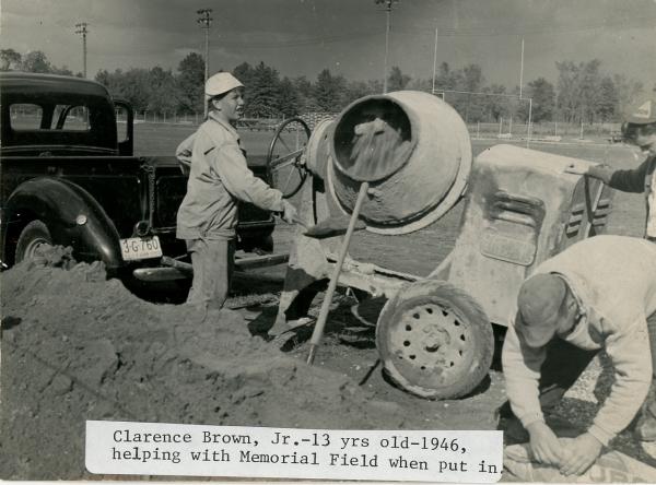 Construction of Memorial Field: 1946