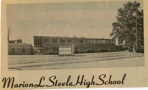 Marion L. Steele High School: Newspaper Clipping