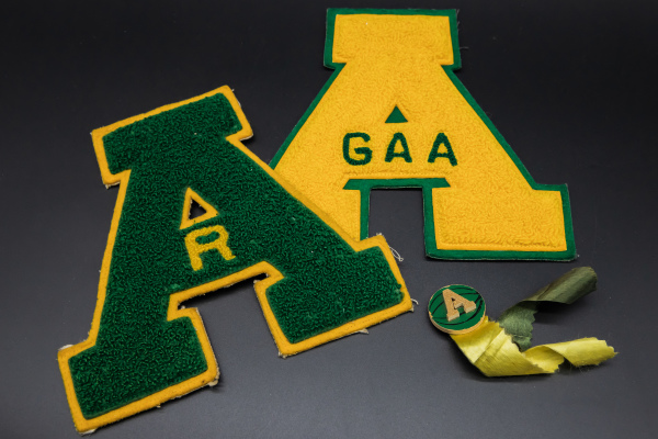 Letters & Basketball Pin