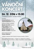 Aneta Ručková a Josef Kratochvíl Vánoční koncert Hutisko Solanec