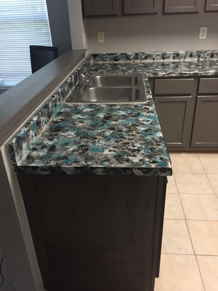 Custom colors matched to clients taste, one of a kind countertop