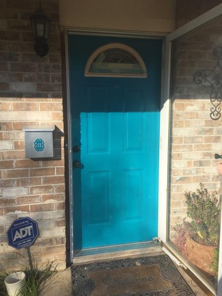 Teal Painted Front Door