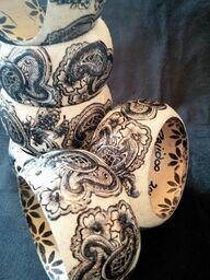 Black Henna Bangle Bracelets
