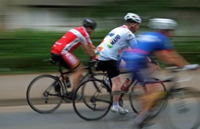 Bike race through Exeter
