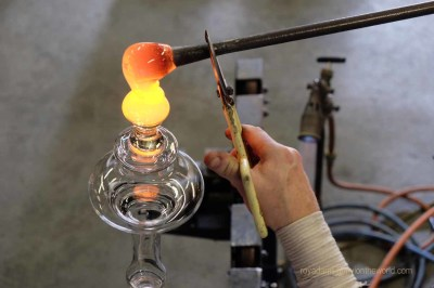 Glass blowing in Devon