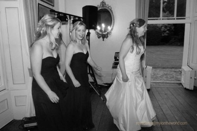 The Bride and bridesmaids at the reception