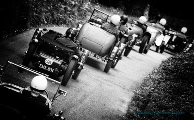 Vintage Sports Cars Race Up The Hill At Wiscombe Park